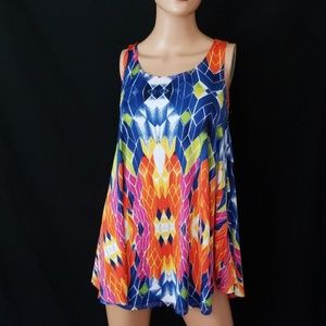 3/$24💟NEW DIRECTIONS Psychodelic Swing Tunic/Top